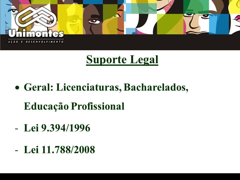 Suporte Legal Geral: Licenciaturas, Bacharelados, Educação Profissional.