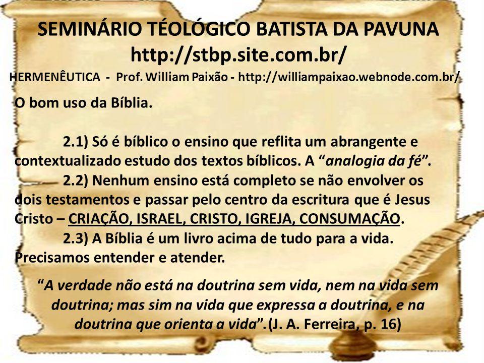 SEMINÁRIO TÉOLÓGICO BATISTA DA PAVUNA http://stbp.site.com.br/
