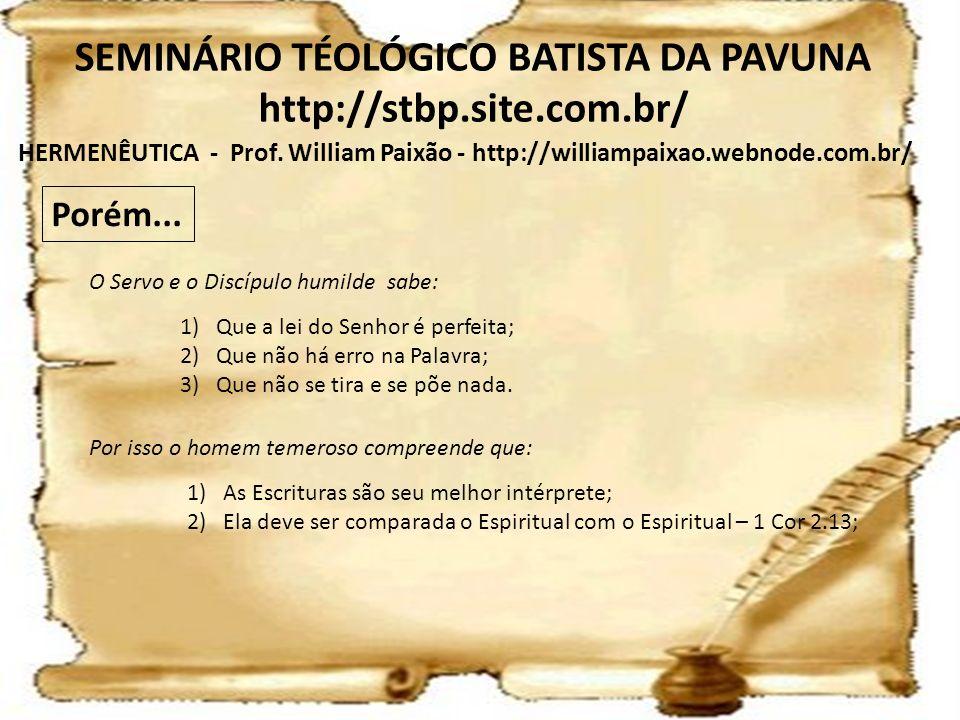 SEMINÁRIO TÉOLÓGICO BATISTA DA PAVUNA