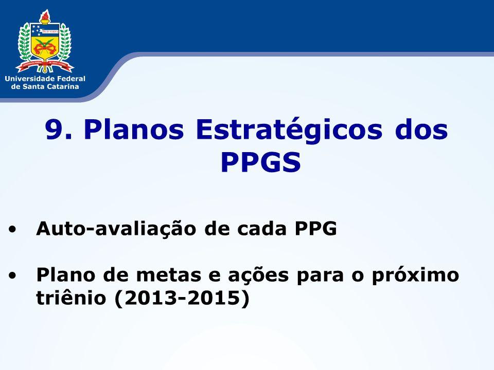 9. Planos Estratégicos dos PPGS