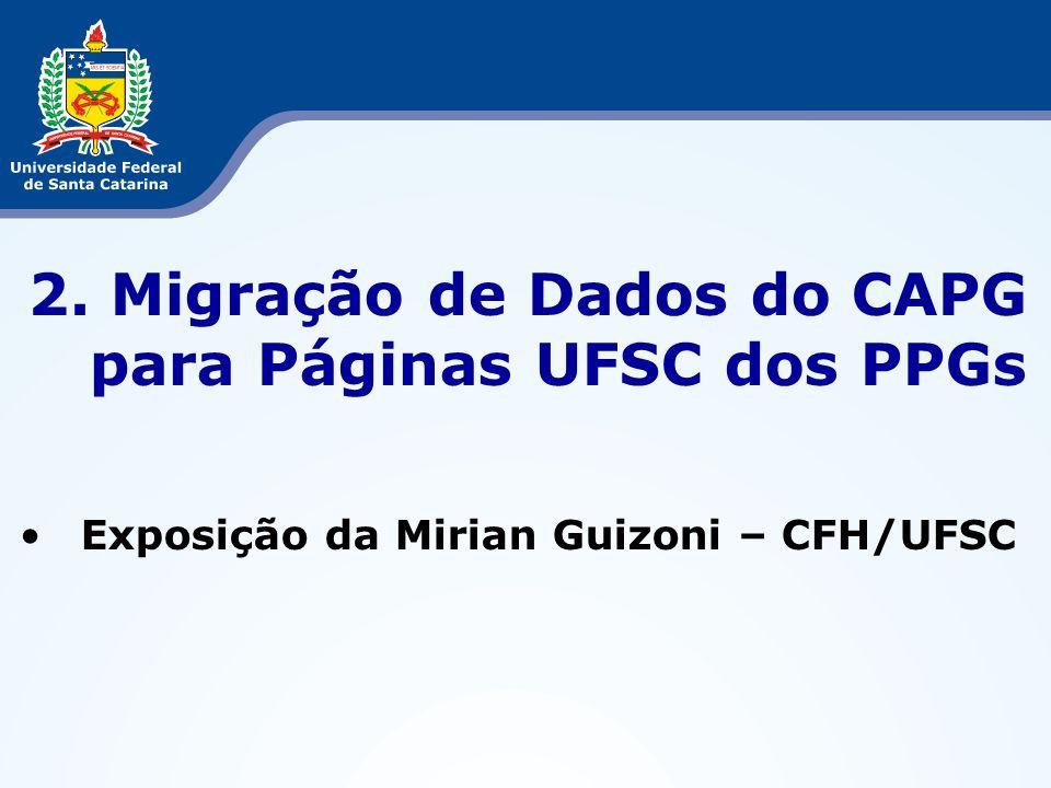 2. Migração de Dados do CAPG para Páginas UFSC dos PPGs