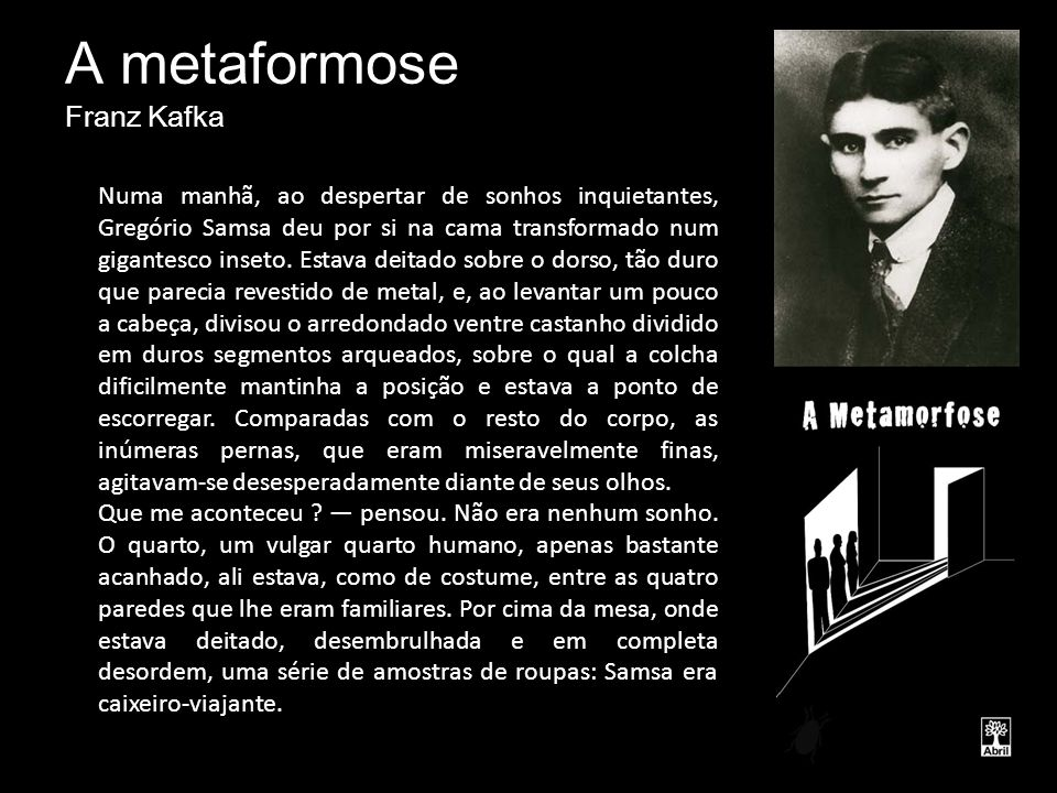 A metaformose Franz Kafka