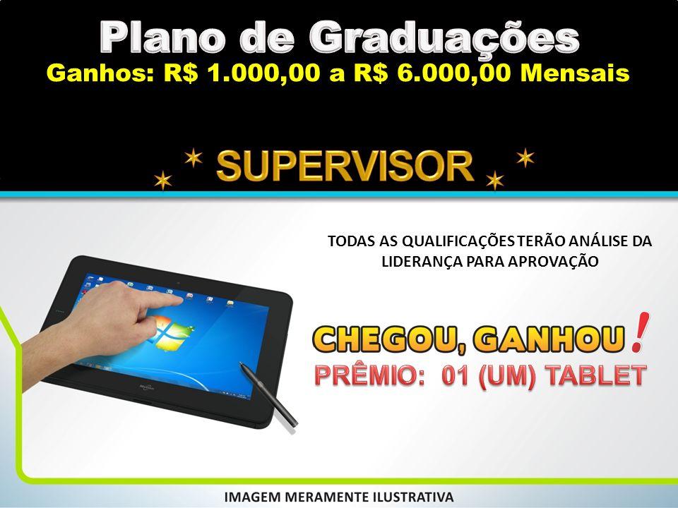 Plano de Graduações   SUPERVISOR   PRÊMIO: 01 (UM) TABLET