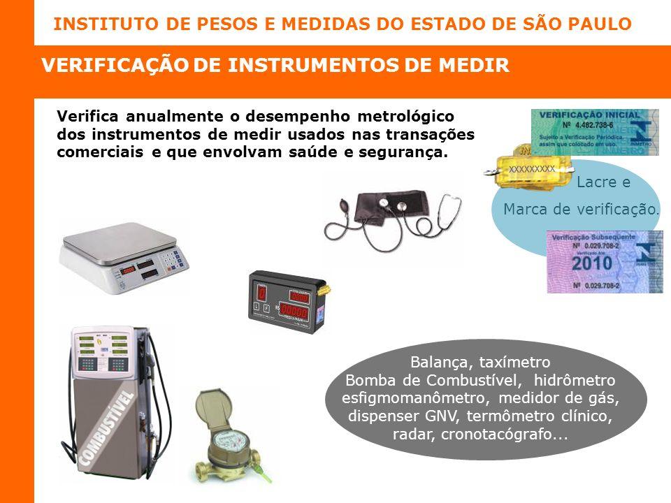 VERIFICAÇÃO DE INSTRUMENTOS DE MEDIR