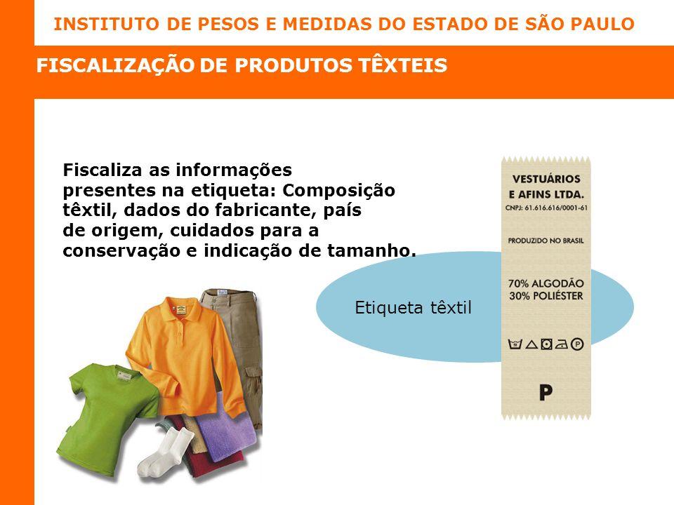 FISCALIZAÇÃO DE PRODUTOS TÊXTEIS