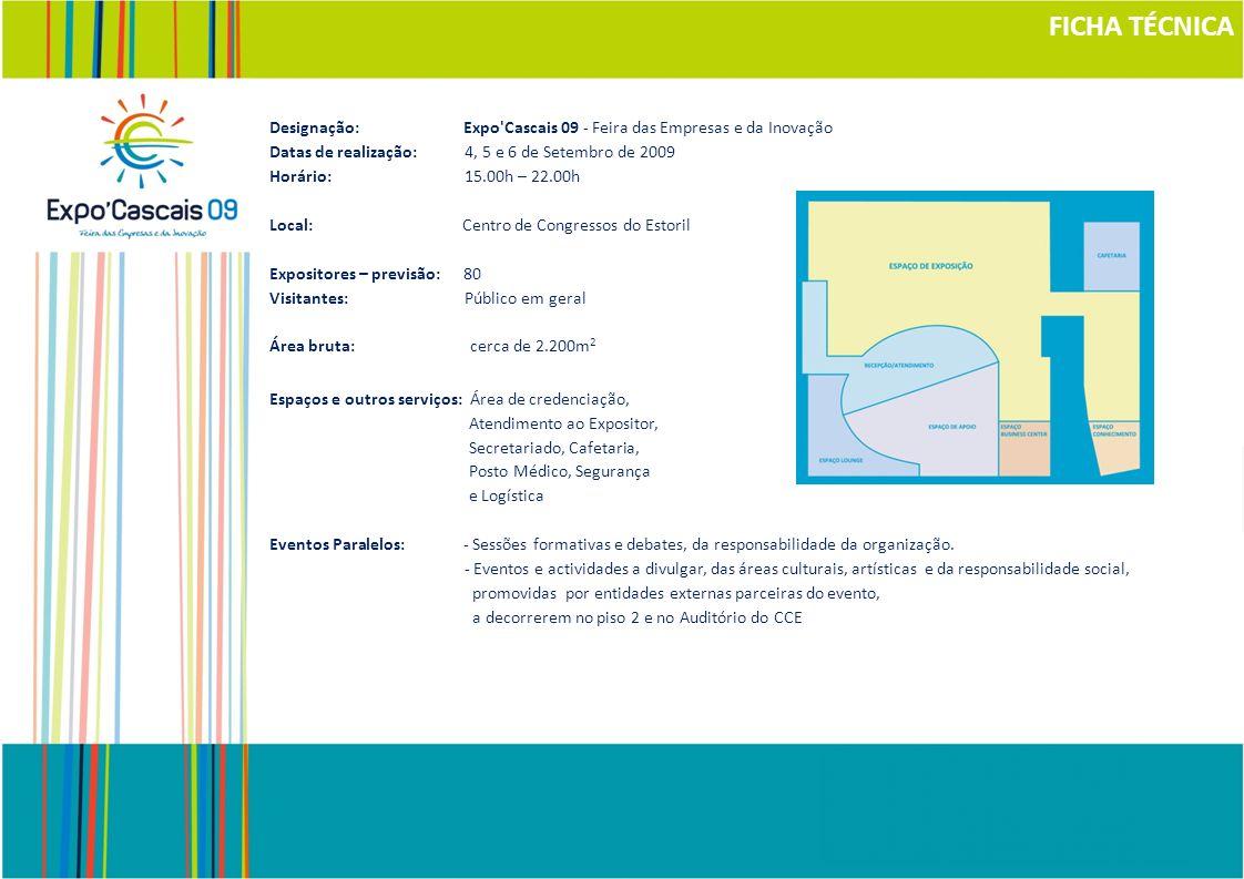 FICHA TÉCNICA Designação: Expo Cascais 09 - Feira das Empresas e da Inovação.