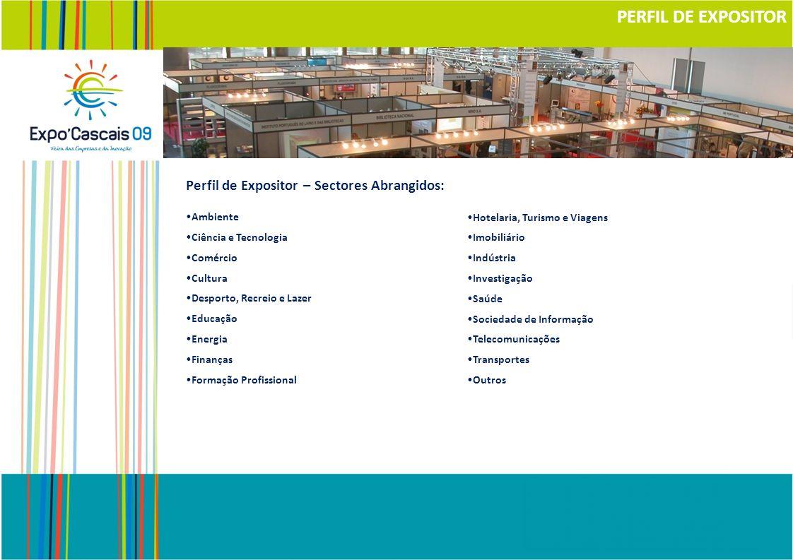 PERFIL DE EXPOSITOR Perfil de Expositor – Sectores Abrangidos: