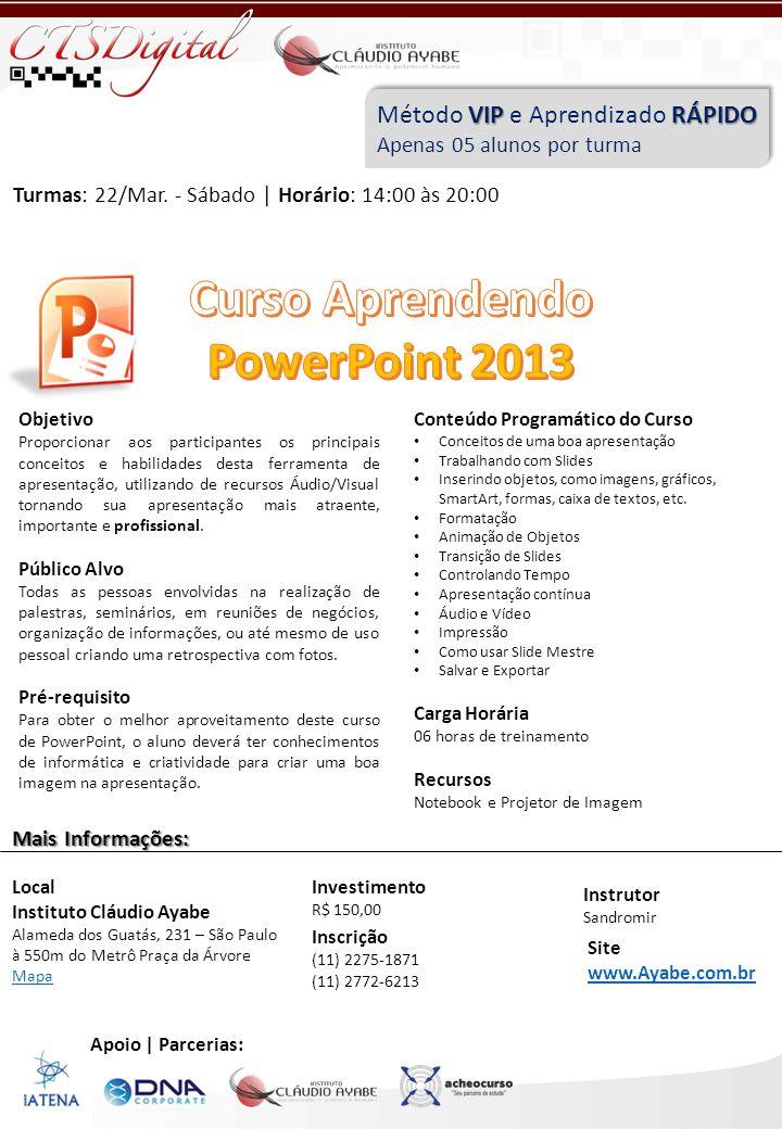 Curso Aprendendo PowerPoint 2013