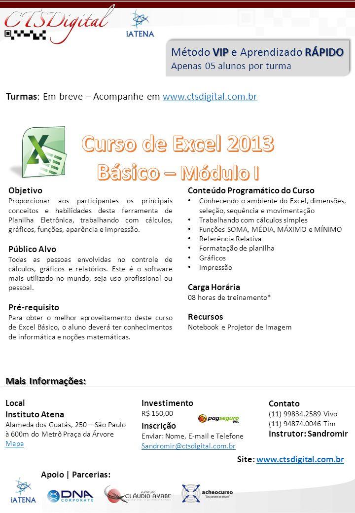 Curso de Excel 2013 Básico – Módulo I