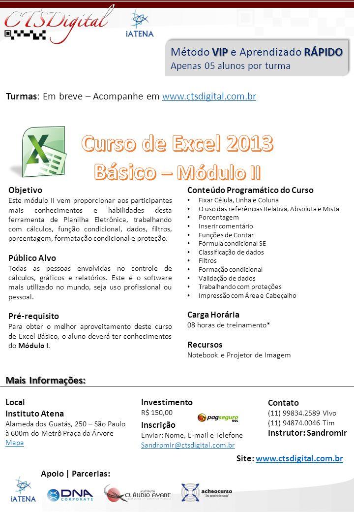 Curso de Excel 2013 Básico – Módulo II