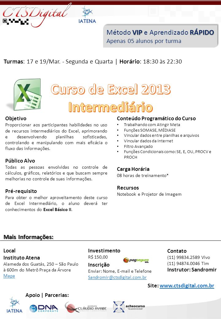 Curso de Excel 2013 Intermediário