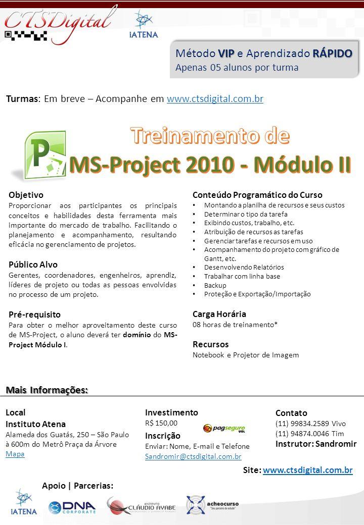 Treinamento de MS-Project 2010 - Módulo II