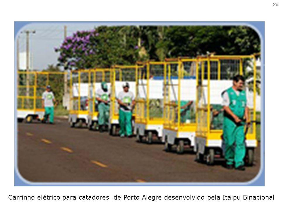 26 Carrinho elétrico para catadores de Porto Alegre desenvolvido pela Itaipu Binacional