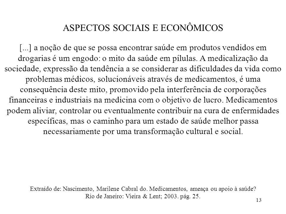 ASPECTOS SOCIAIS E ECONÔMICOS