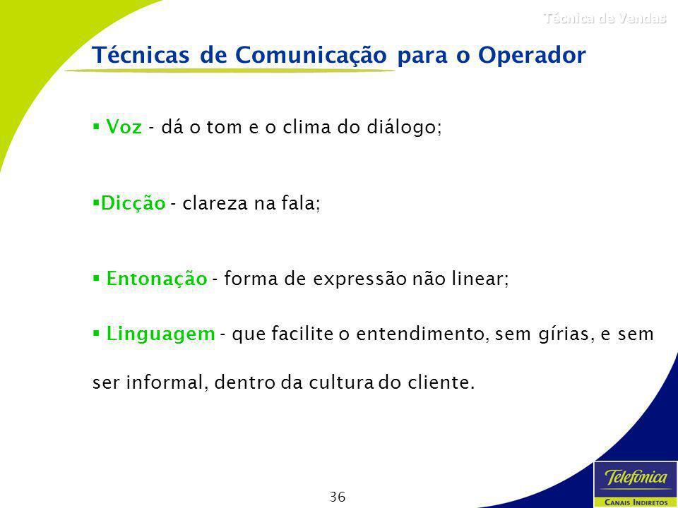 Técnicas de Comunicação para o Operador