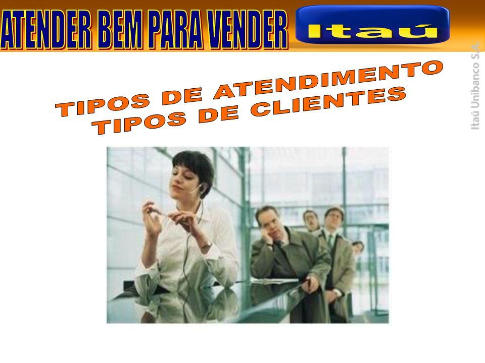 TIPOS DE ATENDIMENTO TIPOS DE CLIENTES