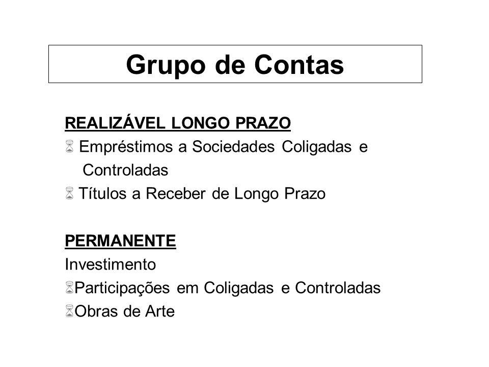 Grupo de Contas REALIZÁVEL LONGO PRAZO