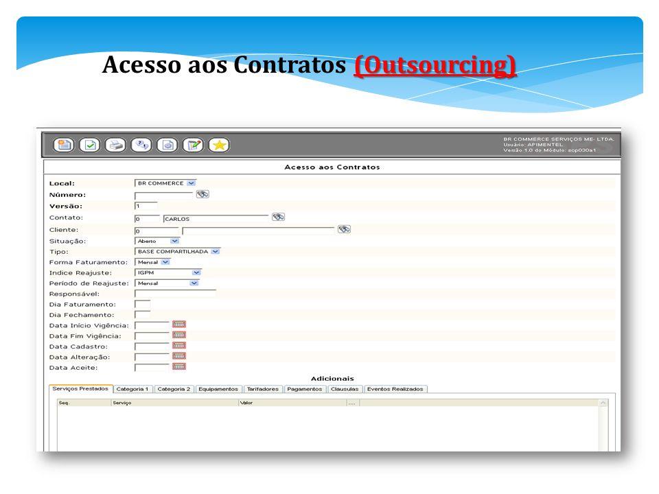 Acesso aos Contratos (Outsourcing)