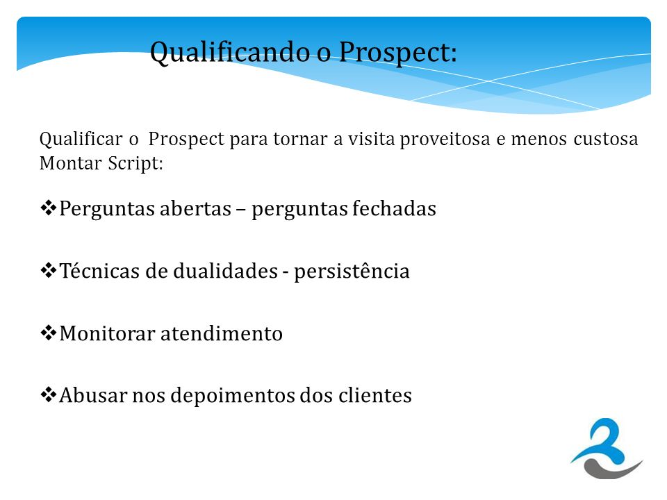 Qualificando o Prospect: