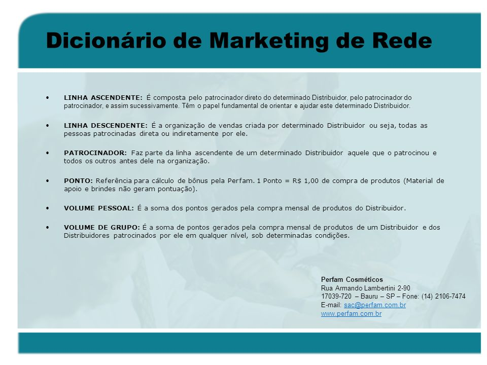 Dicionário de Marketing de Rede