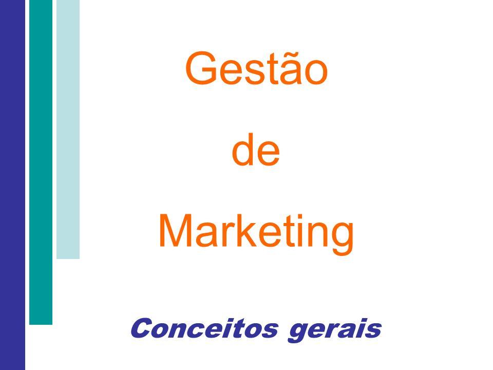 Gestão de Marketing Conceitos gerais