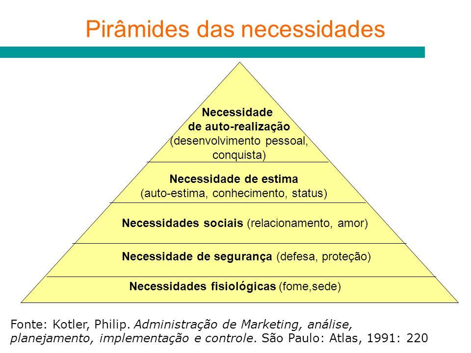 Pirâmides das necessidades