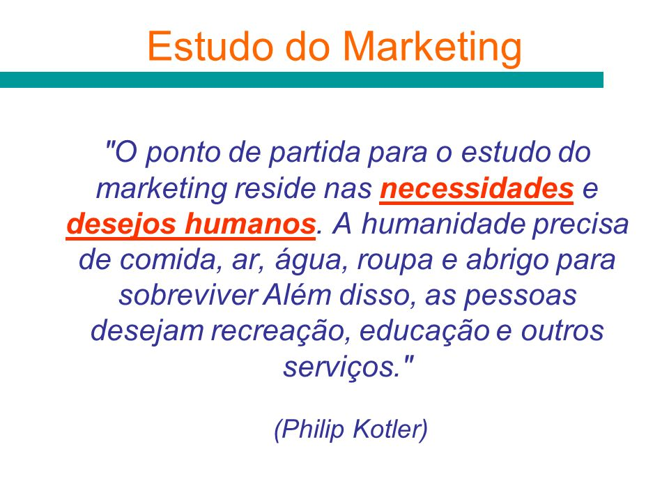 Estudo do Marketing