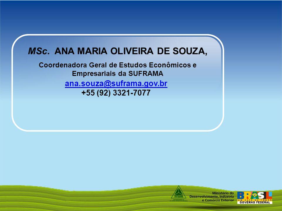 MSc. ANA MARIA OLIVEIRA DE SOUZA,