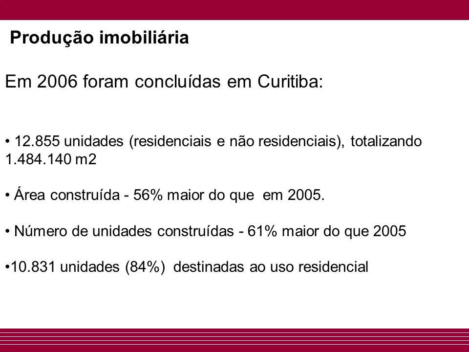 Em 2006 foram concluídas em Curitiba: