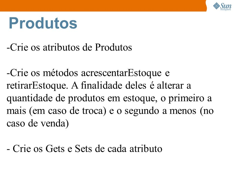 Produtos Crie os atributos de Produtos
