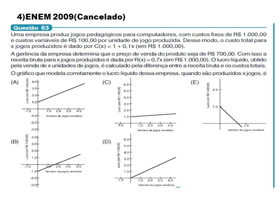 4)ENEM 2009(Cancelado)