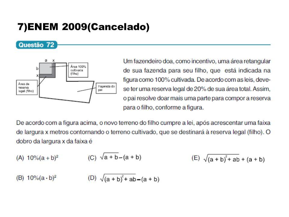 7)ENEM 2009(Cancelado)