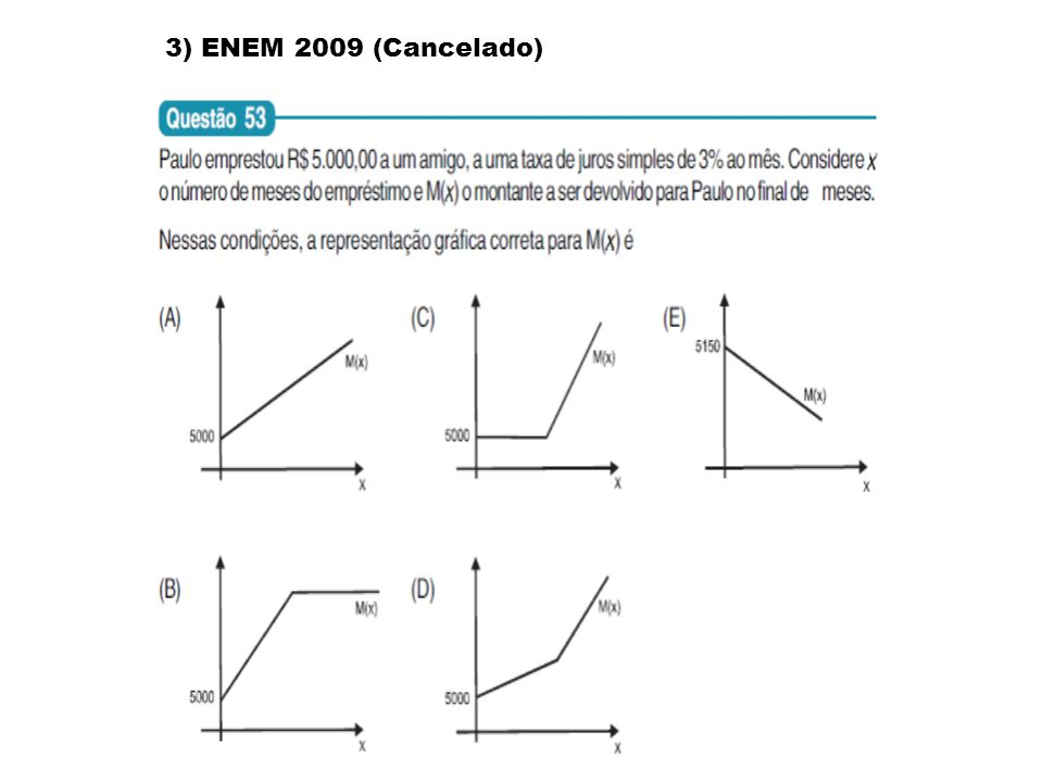 3) ENEM 2009 (Cancelado)