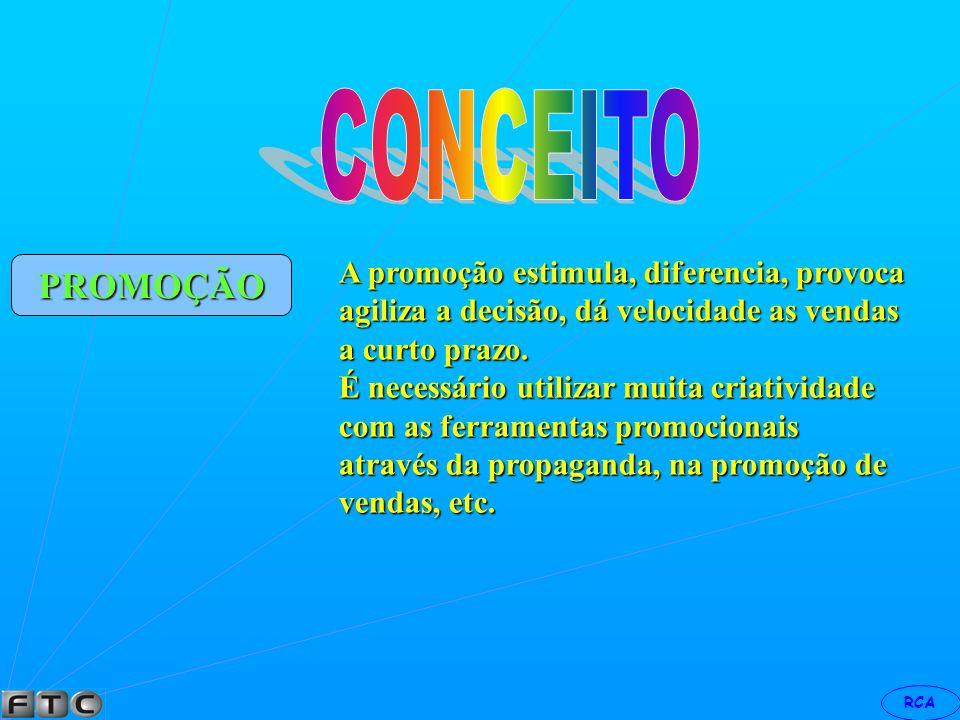 CONCEITO PROMOÇÃO A promoção estimula, diferencia, provoca