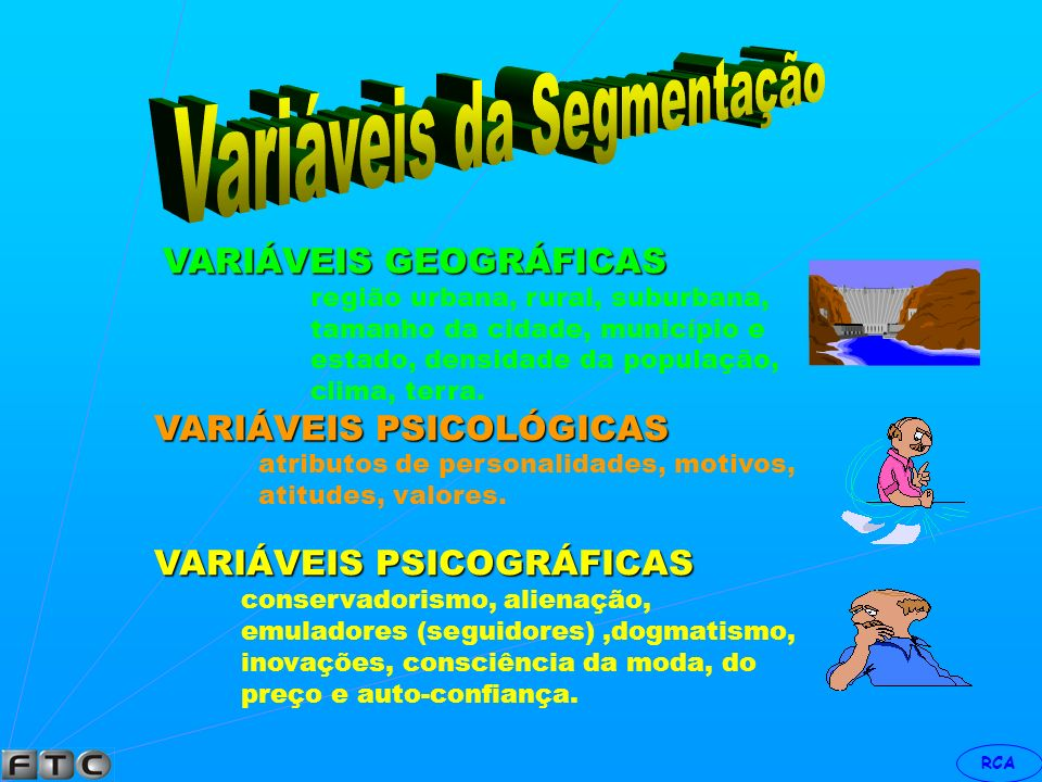 Variáveis da Segmentação