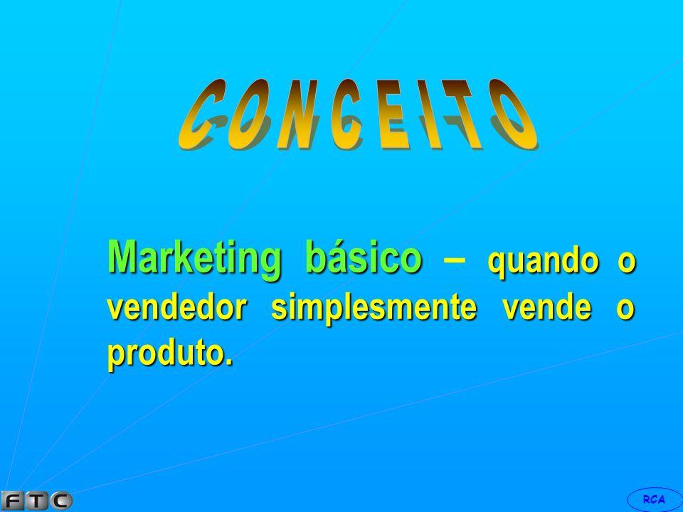 Marketing básico – quando o vendedor simplesmente vende o produto.