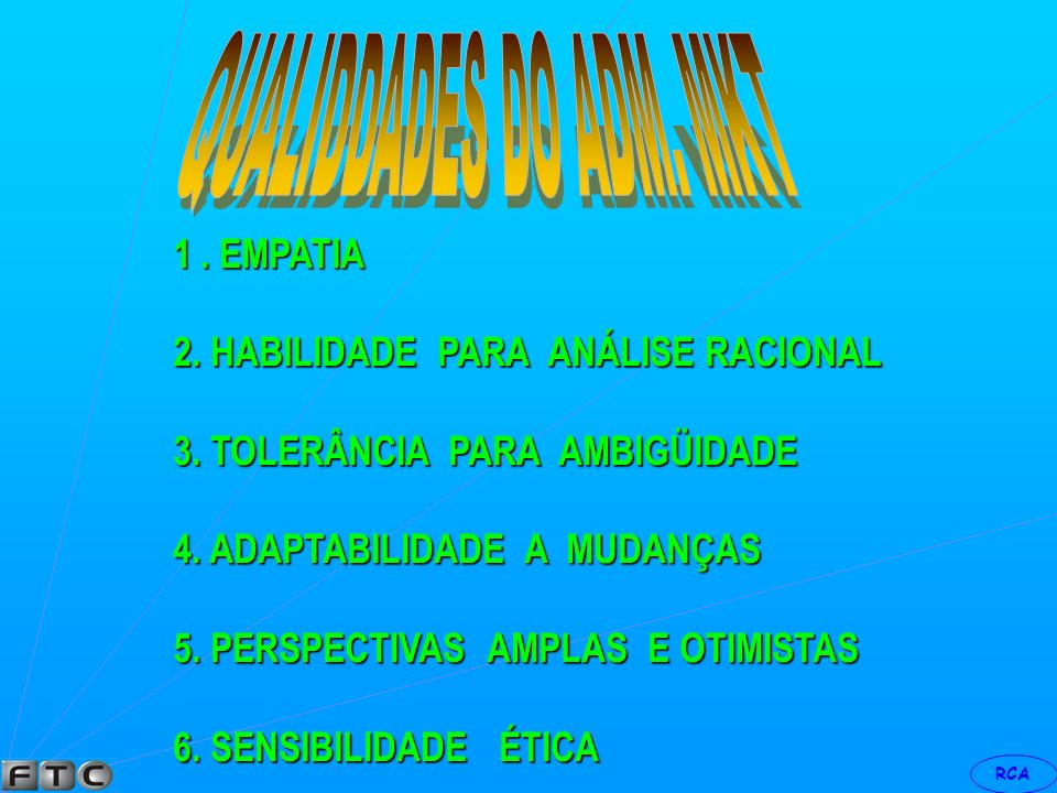 QUALIDDADES DO ADM. MKT 1 . EMPATIA