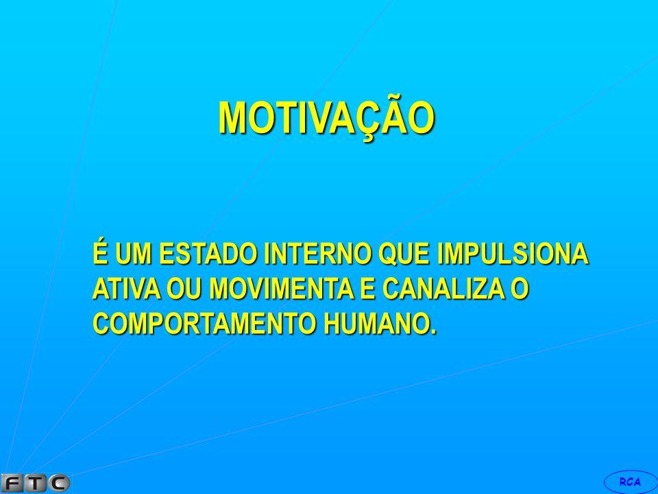 MOTIVAÇÃO É UM ESTADO INTERNO QUE IMPULSIONA