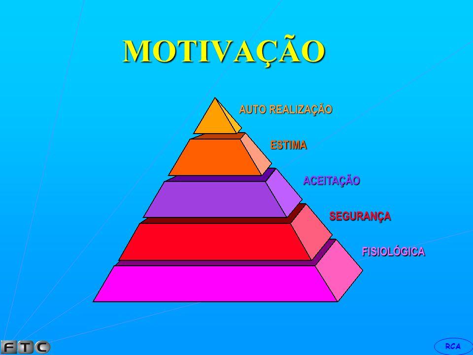 MOTIVAÇÃO AUTO REALIZAÇÃO ESTIMA ACEITAÇÃO SEGURANÇA FISIOLÓGICA