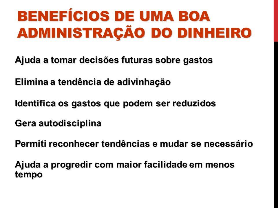 BENEFÍCIOS DE UMA BOA ADMINISTRAÇÃO DO DINHEIRO