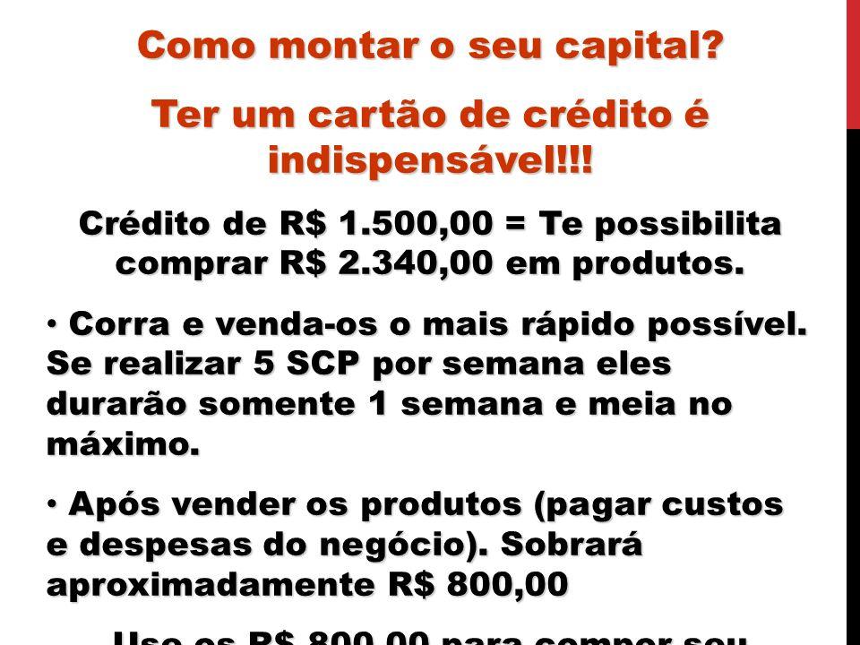 Como montar o seu capital Ter um cartão de crédito é indispensável!!!
