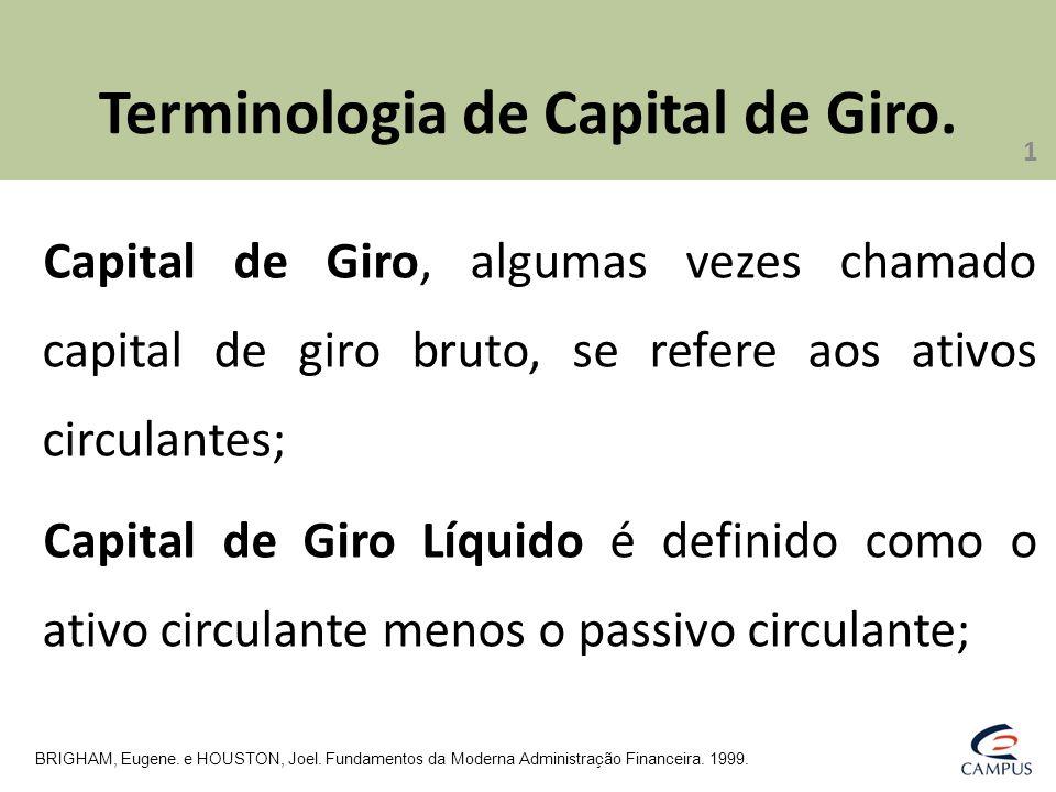 Terminologia de Capital de Giro.