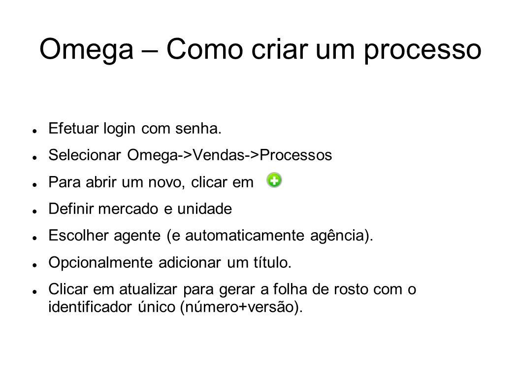 Omega – Como criar um processo