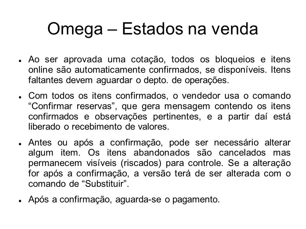 Omega – Estados na venda