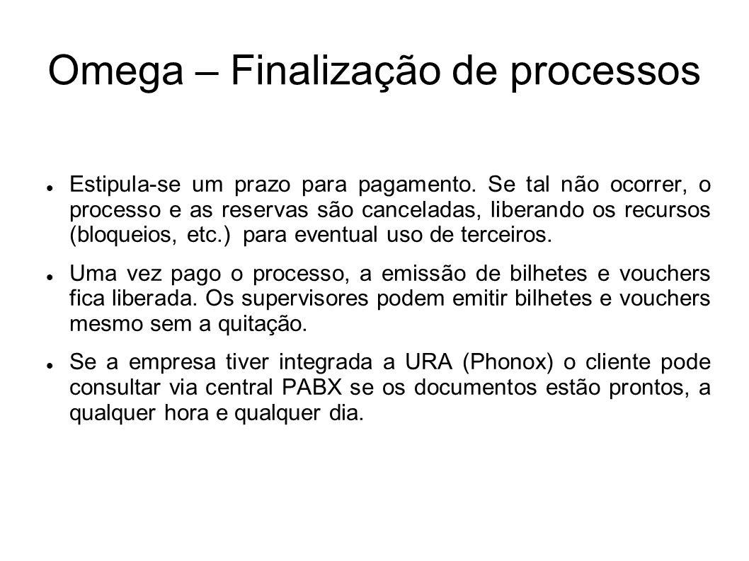 Omega – Finalização de processos