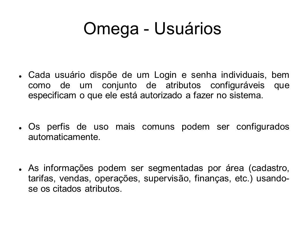 Omega - Usuários
