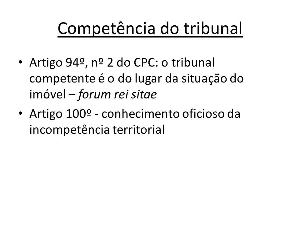 Competência do tribunal