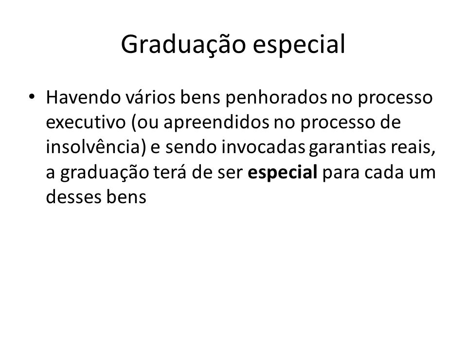 Graduação especial