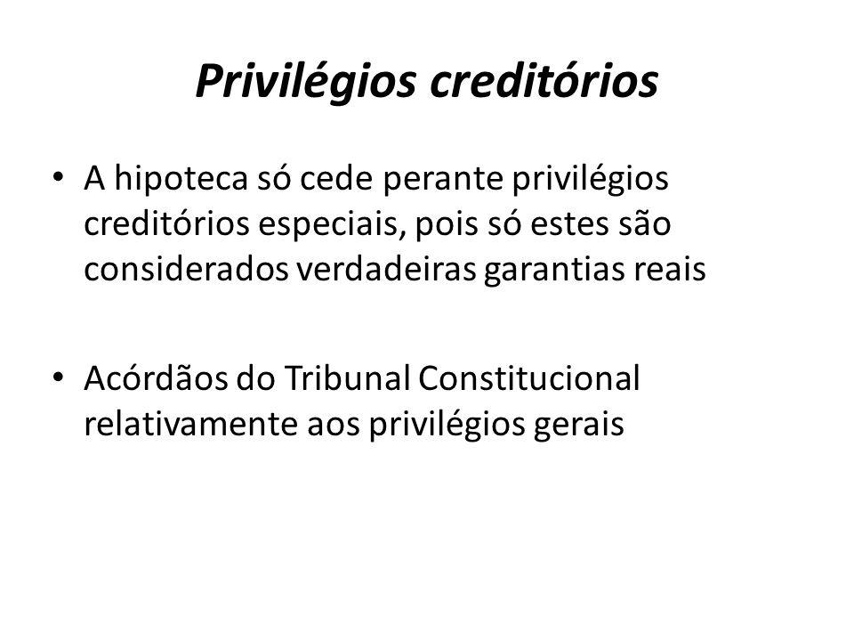 Privilégios creditórios