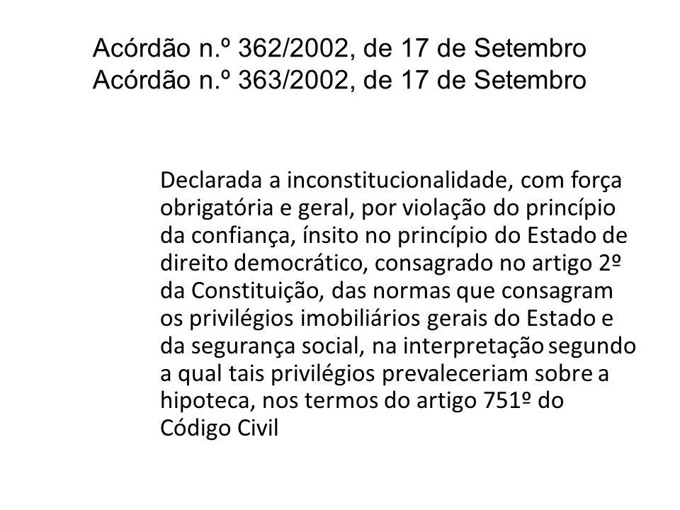 Acórdão n. º 362/2002, de 17 de Setembro Acórdão n